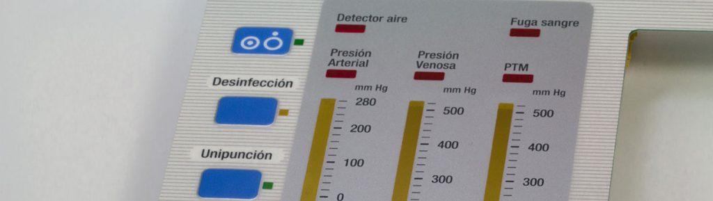 folientastatur-mit-chromatierter-aluminium-traegerplatte-und-schaltebene-auf-folienbasis-in-2-lagen-technik-und-gepraegter-frontfolie-frontblenden